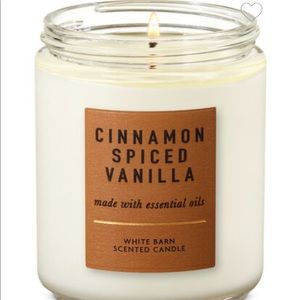 TWO SPICED CINNAMON VANILLA CANDLES NEVER USED!!!